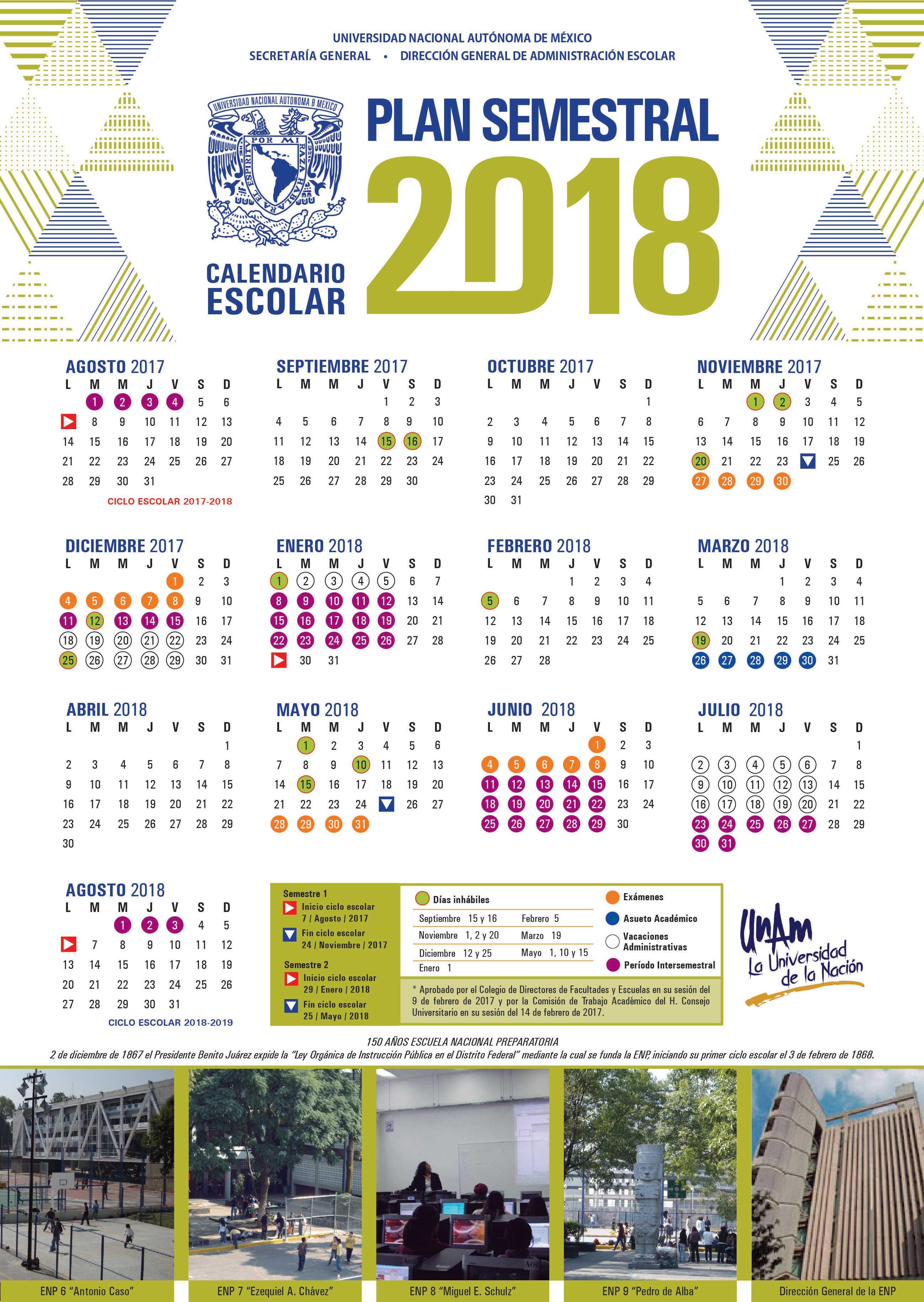 Calendario Anual Y Semestral Facultad De Estudios Superiores Zaragoza